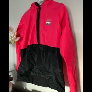 Pink sport running pull over sweater SZ M